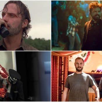 Andrew Lincoln, Dominic Cooper, Joseph Gilgun, and Seth Rogen Succumb to Bleeding Cool's Equipment [SDCC]