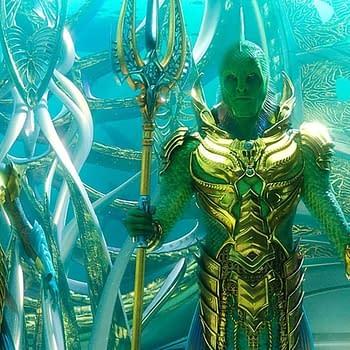 Aquamans The Fisherman King Glitters Like Sunken Treasure in Photo