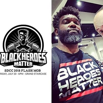 Dieselfunk Dispatch: SDCC Black Heroes Matter Flash Mob with David F. Walker and Uraeus