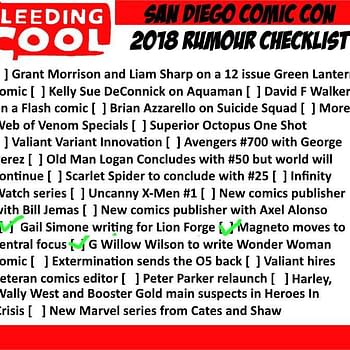 The Bleeding Cool San Diego Comic-Con 2018 Rumour Checklist