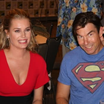 Bleeding Cool Interviews Jerry O'Connell [Voice of Superman] and Rebecca Romijin [Lois Lane] at SDCC's Death of Superman Premiere