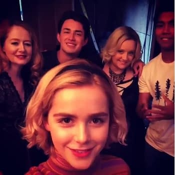 Chilling Adventures of Sabrina Set Video: Kiernan Shipka Cast Welcome You to Their Coven