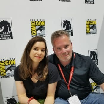 Veronica and Andy Fish Talk 'Blackwood' and Finish Each Other's Sentences at SDCC