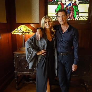 American Horror Story: Apocalypse: Connie Britton Dylan McDermott Haunt Murder House in Set Pic New Teasers Added