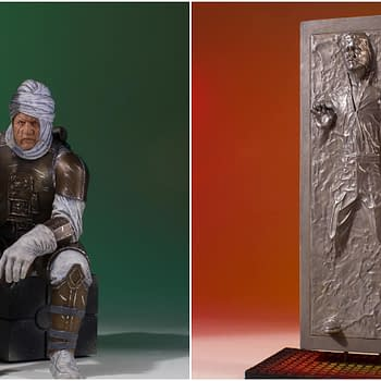 2 New Star Wars Statues from Gentle Giant: Dengar and Han in Carbonite