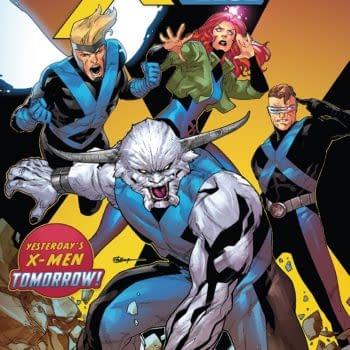 X-Men: Blue #33 cover by R.B. Silva and Rain Beredo