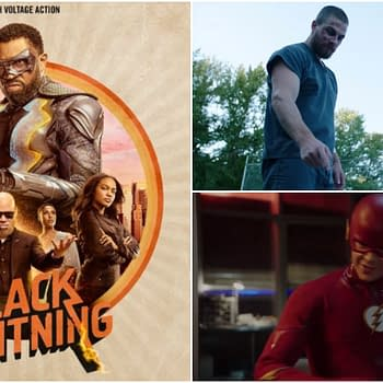 Superheroes Fight Back (Spare Subway) in CW Teaser Black Lightning Gets New Poster