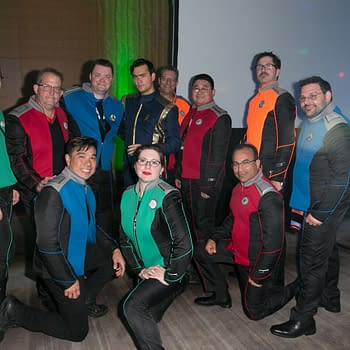 Dragon Con: Orville Cosplay Crew Invades Star Trek 10 Forward Party