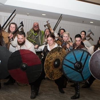 A Raid of Vikings Invade During Dragon Con 2018