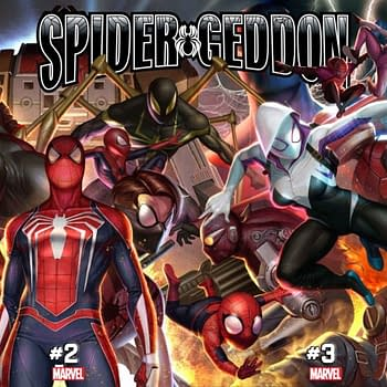 Spider-Persons Spider-Persons Everwhere on InHyuk Lees Spider-Geddon Connecting Variants