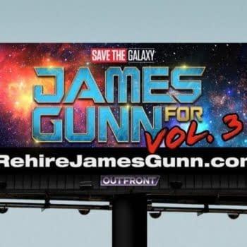 #RehireJamesGunn Devotees Throw Down Fandom Gauntlet with Disneyland Billboard