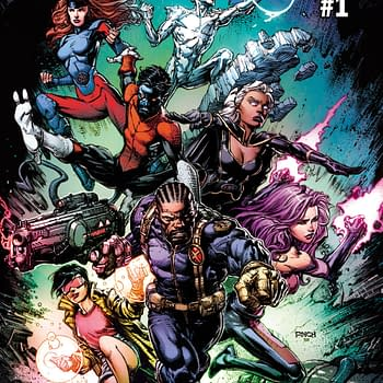 David Finch Stands With Feet on Uncanny X-Men #1 Variant