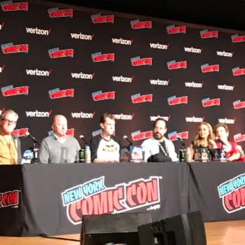 Promoting the Shiny, New Batman: The Animated Series Blu-Ray Set at NYCC