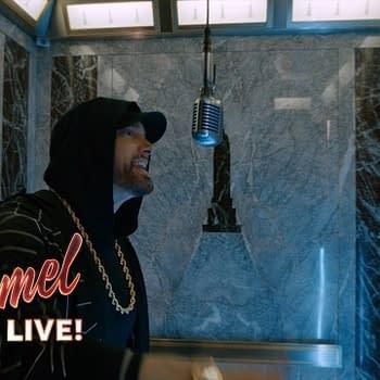 Eminem Performs Title Venom Track at Empire State Building