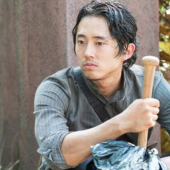 The Walking Deads Steven Yeun Felt Beige Cramped Playing Glenn