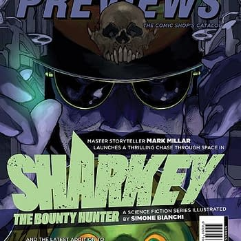 Sharkey The Bounty Hunter Spider-Gwen Bust on Next Weeks Previews Cover