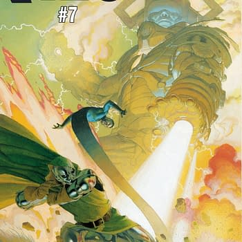 Doctor Doom Takes on Galactus in Esad Ribics Fantastic Four #7 Cover