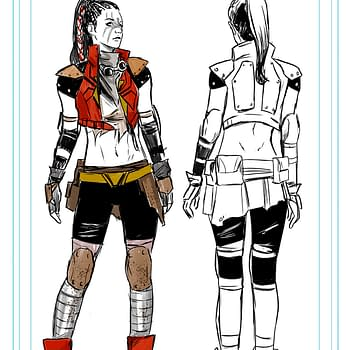 Post-Apocalyptic New Costumes for Spider-Woman Hazmat and Echo in Captain Marvel #2