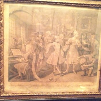 The Works Of William Hogarth on the Walls Of Blacks Club in London