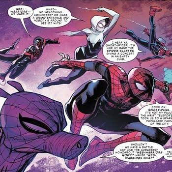 Spider-Ham Brainstorms Battle Cries for the Web Warriors in Next Weeks Spider-Man: Enter the Spider-Verse #1
