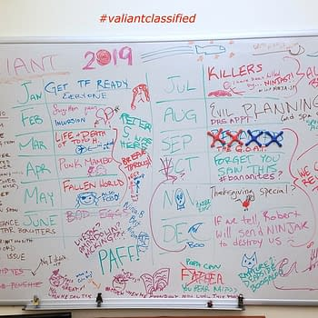 Valiant Leaks Classified White Board with Clues for Next 12 Months of Plans
