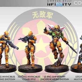 Corvus Belli Previews New Invincible Army Miniatures for Infinity