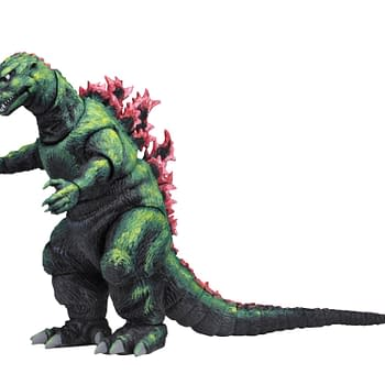 Godzilla Gets a Unique Figure From NECA- a 1956 Poster Version