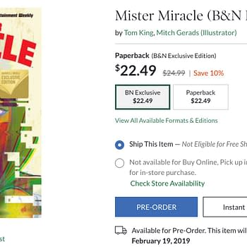 Barnes &#038 Noble Gets a Retailer-Exclusive Edition of Mister Miracle