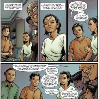 Discussing Canadian Politics at the Dinner Table in Champions Annual #1