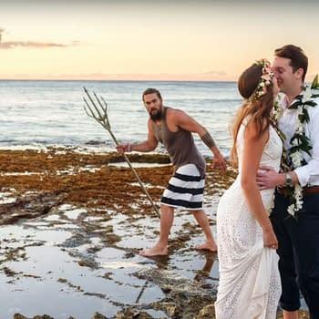 That Time Aquaman [Jason Momoa] Crashed a Wedding Photoshoot