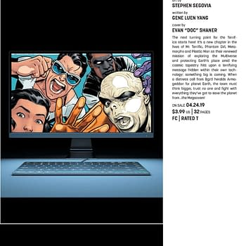 Gene Luen Yang and Stephen Segovia Take Over The Terrifics in April
