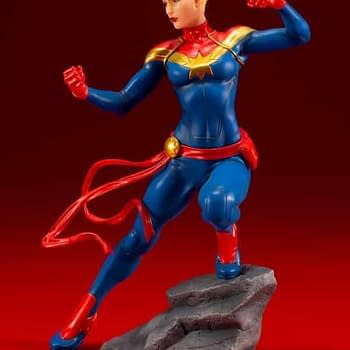 Captain Marvel Gets Her Own Kotobukiya Statue