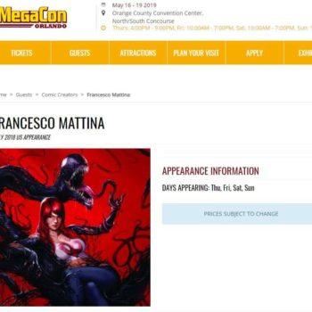 Fan Expo and Megacon Remove Francesco Mattina From Their Websites