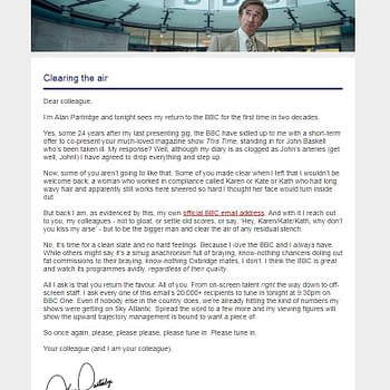 Alan Partridge Just CCed Everyone at the BBC In to a E-Mail