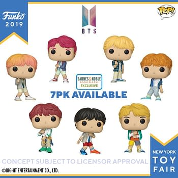 Funko New York Toy Fair Reveals: BTS Pops