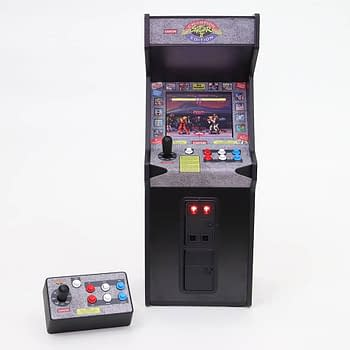 New Wave Toys Announces a Mini Street Fighter II Arcade Cabinet