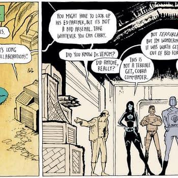 Raiding Dr. Venoms Stash in Tomorrows GI Joe Sierra Muerte #1