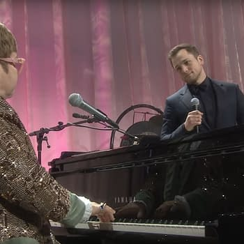 Sir Elton John Taron Egerton Duet on Tiny Dancer Post-Oscars