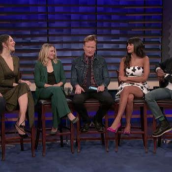 Conan: The Cast of The Good Place Talk Topless Chidi Tahani/Eleanor and More [VIDEO]