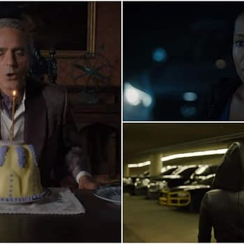 Watchmen: Jeremy Irons Blows Out Candle on Interesting Cake Regina King Looks Concerned and More [VIDEO]