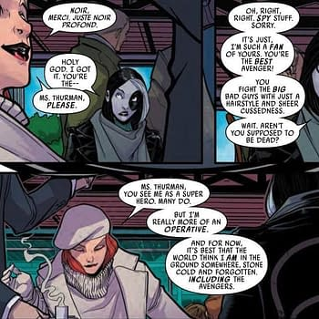 Domino Fangirls Out Over the Black Widow in Next Weeks Hotshots #1