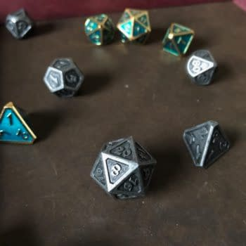 Review: Die Hard Dice Dark Iron and Gold Aquamarine Mythica Sets