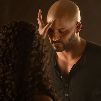 American Gods: Yetide Badaki Shares Season 3 Selfie Ricky Whittle Man-Crushes Eric Johnson
