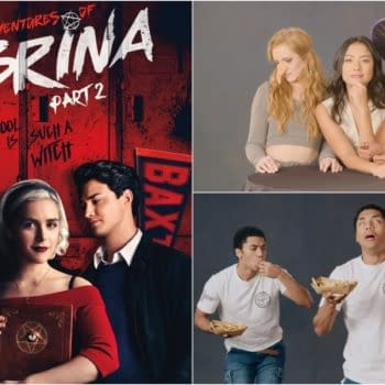 'Chilling Adventures of Sabrina': The Weird Sisters Kiss Things; Chance Perdomo Really Loves Poutine