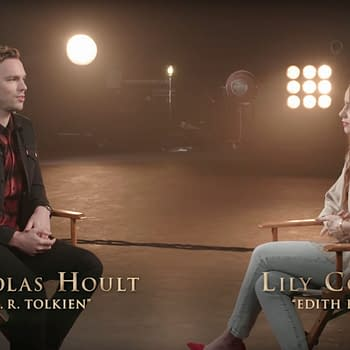 Nicholas Hoult Lily Collins Chat Tolkien and First Encountering Middle Earth