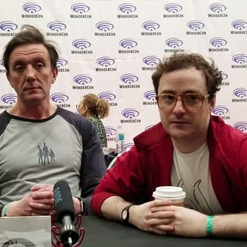The Tick: Peter Serafinowicz Griffin Newman Talk Tick/Arthur Relationship at WonderCon