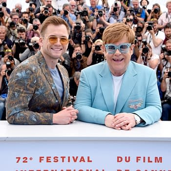 Cannes Audience Gives Rocketman Standing Ovation Targon Egerton Tearfully Reacts