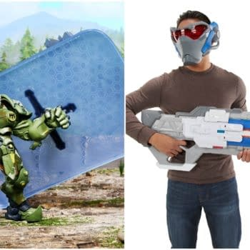 Overwatch SDCC Exclusive Reinhardt Figure and New Soldier 76 Nerf Blaster Revealed