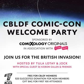 Kieron Gillen to DJ San Diego Comic-Con at CBLDF Party