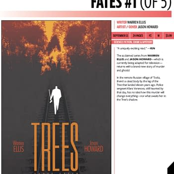 Warren Ellis and Jason Howards Trees: Three Fates Coming in September